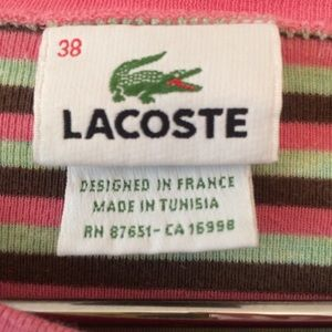 Lacoste Tops - LACOSTE Long Sleeve Crew Neck Jersey T-shirt